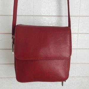 Hobo International red leather crossbod wallet bag